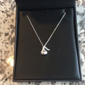 Zales Silver Hersey Kiss Necklace, never worn